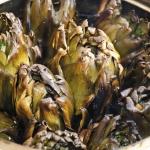 Carciofi arrostiti, street food campano