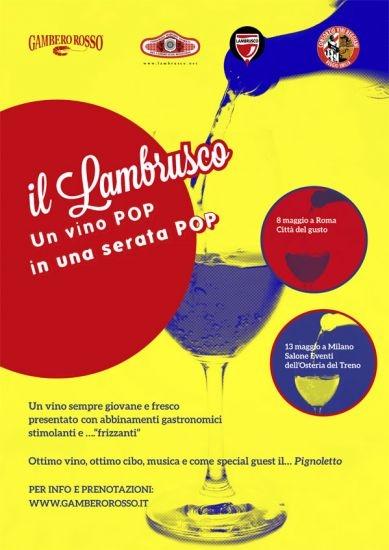 """Gambero Rosso dedica due giornate al """"Lambrusco Pop"""" nelle ..."""