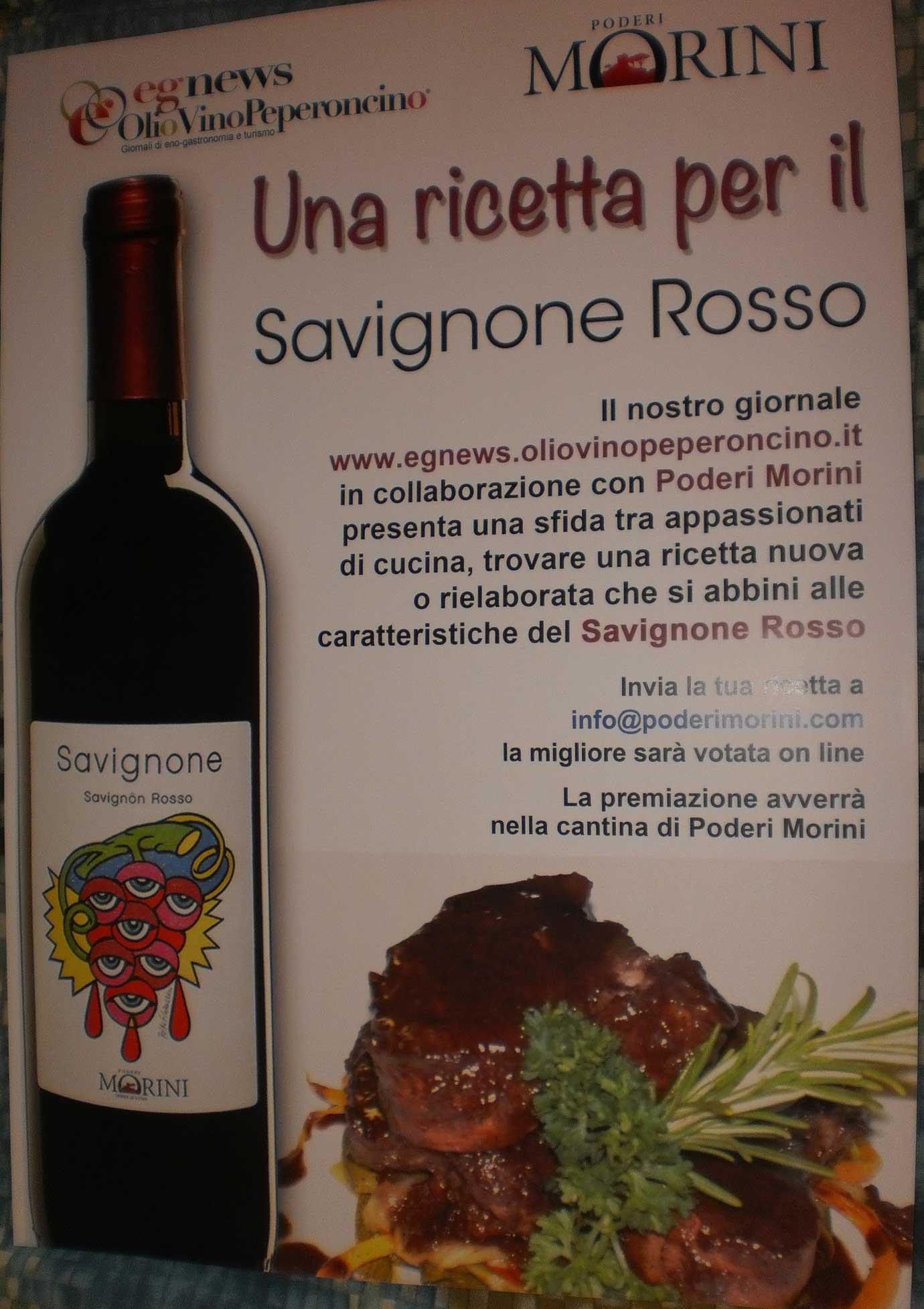 Una ricetta per il Savignone Rosso