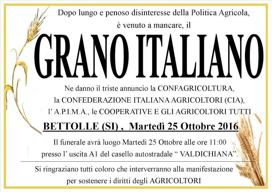 Photo of Grano duro italiano: il funerale