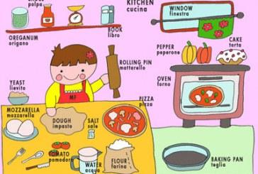 Inglese in cucina in un libro