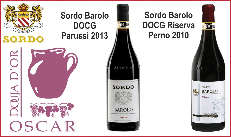 Photo of 2 Oscar  dalla Douja d'Or all'azienda Sordo
