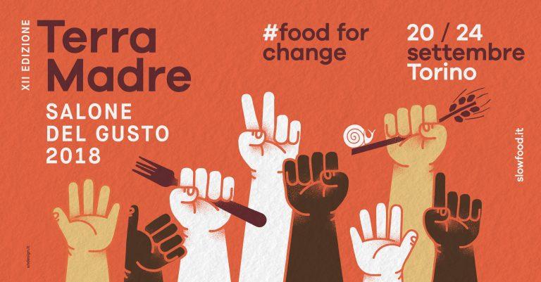 Photo of Terra Madre e cibo per il cambiamento, un manifesto con mani alzate