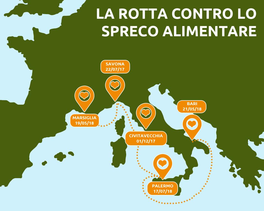 Photo of Banco Alimentare: 50.000 porzioni di cibo salvate dalle navi da crociera