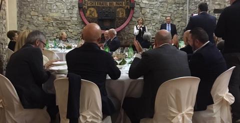 Spiedo in Villa Franciacorta dalla famiglia Bianchi