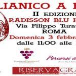 Aglianico a Roma torna domenica 3 febbraio con la II Edizione