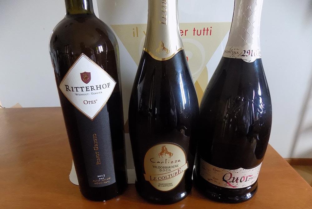 Montina, Ritterof e Le Colture le prime Clessidre di Platino a Il vino per tutti