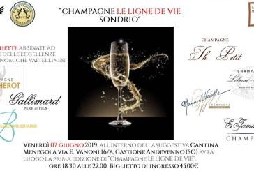 """Prima edizione di """"Champagne LE LIGNE DE VIE"""