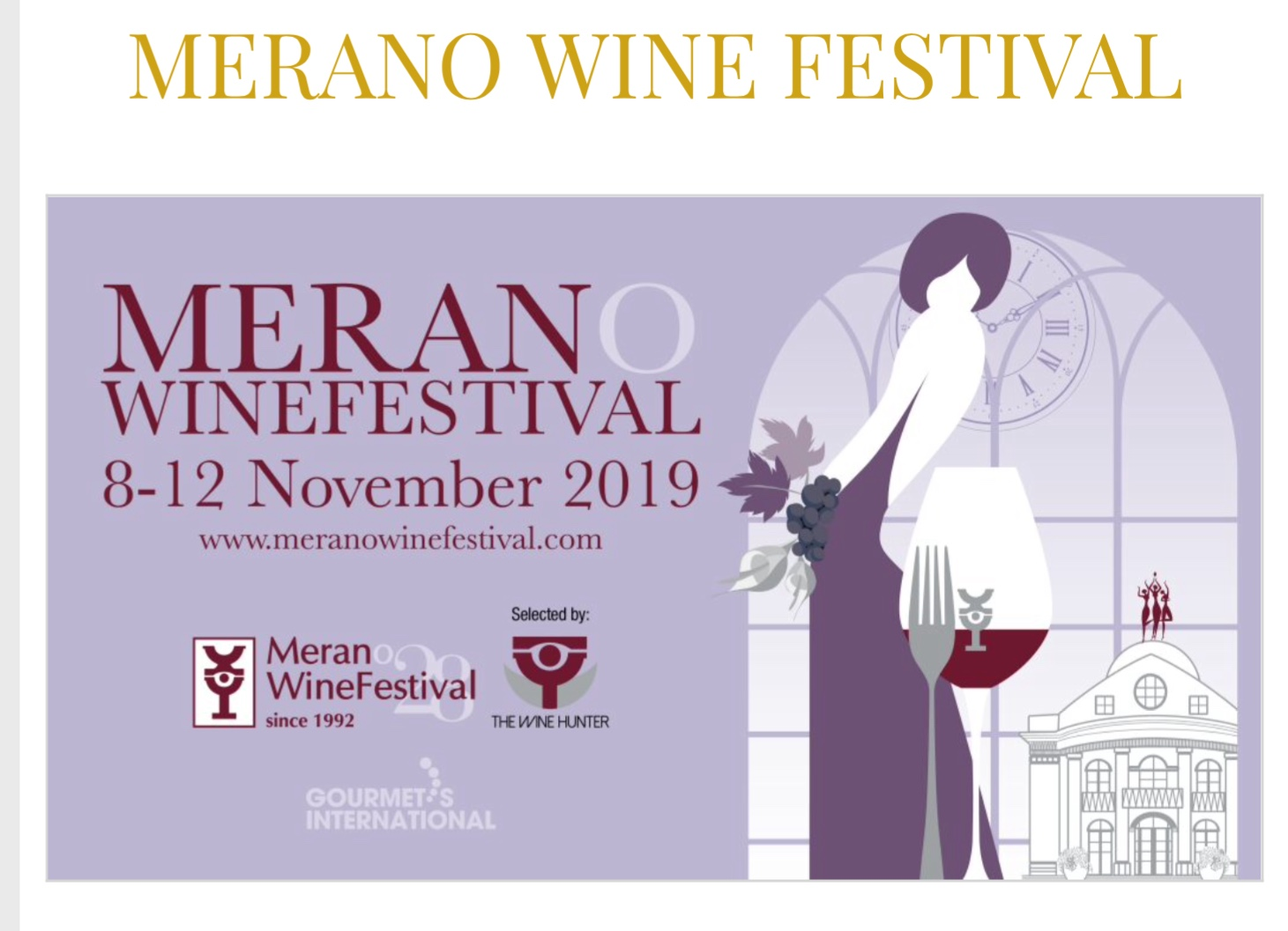 Merano WineFestival, l'imperdibile festa del vino