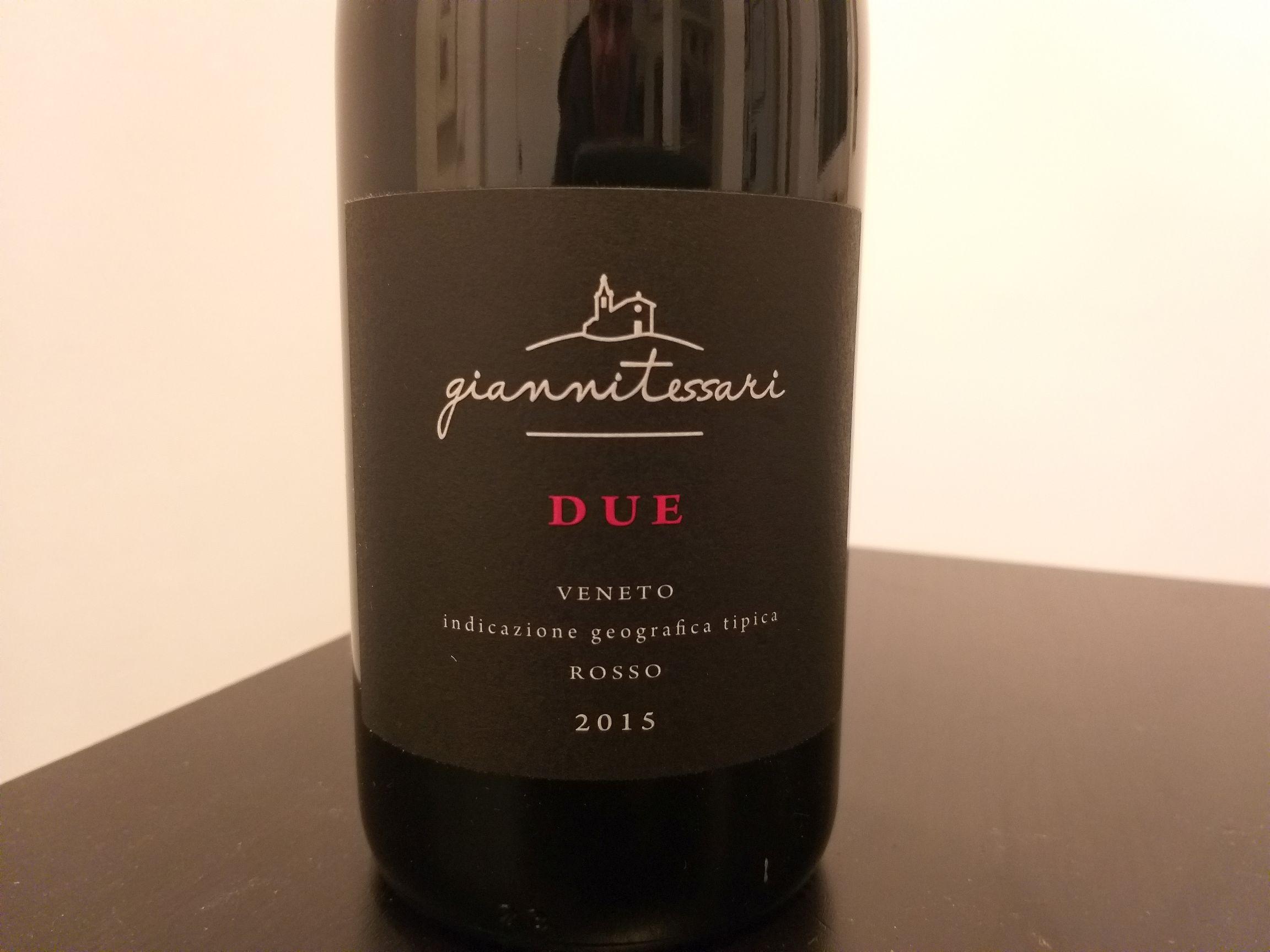 """""""Due"""" di Gianni Tessari un vino dal nome che propizia  un nuovo inizio"""