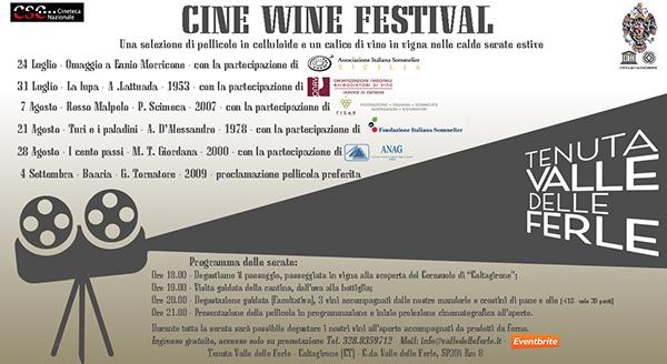 Cine Wine Festival a Tenuta Valle delle Ferle