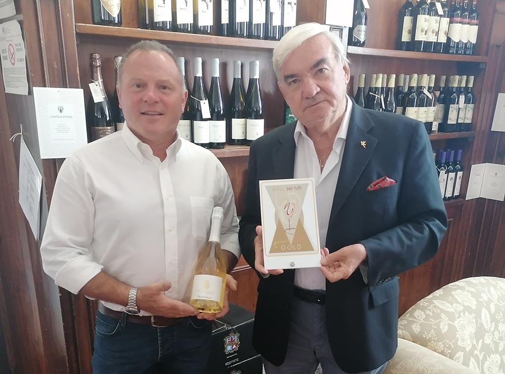 Premiato il Trentodoc Brut Nature Riserva dell'azienda Marco Tonini di Isera