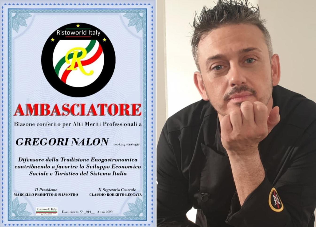 Photo of Chef Gregori Nalon Ambasciatore di Ristoworld Italy